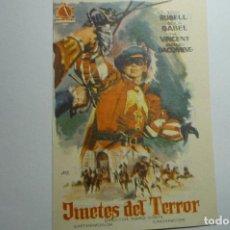 Cine: PROGRAMA JINETES DEL TERROR - TONY RUSELL -PUBLICIDAD CINE LUCERO.-CASPE???. Lote 156435526