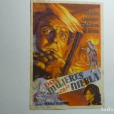 Cine: PROGRAMA DOS MUJERES EN LA NIEBLA - JOSE M.SEOANE. Lote 156446502