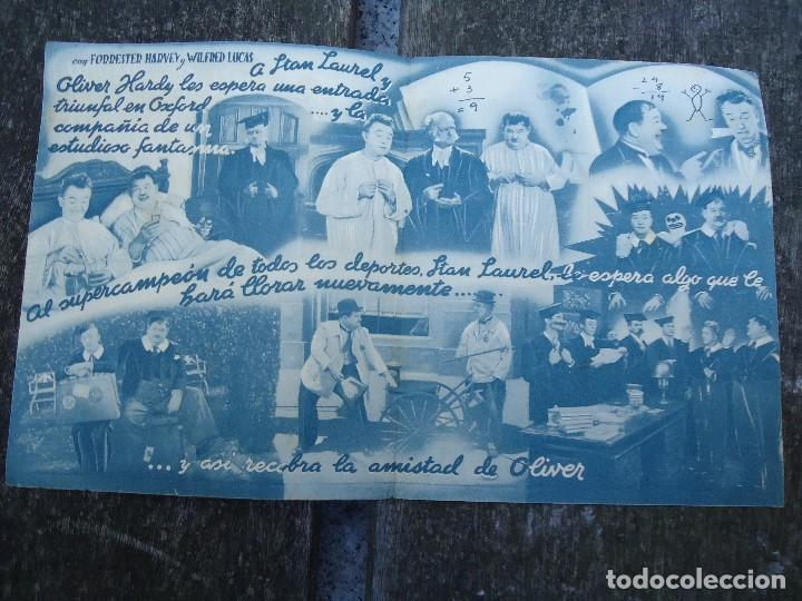 Cine: Estudiantes en Oxford - folleto mano doble cifesa Laurel y Hardy gordo y flaco PIE VERA SEVILLA PUB - Foto 2 - 156504214