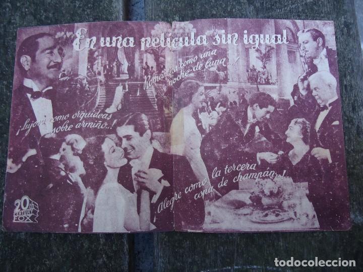Cine: CAFE METROPOL. años 30 TYRONE POWER, LORETTA YOUNG. DOBLE 20TH CENTURY FOX CON PUBLICIDAD - Foto 2 - 156536878