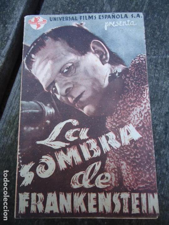 LA SOMBRA DE FRANKENSTEIN 1944 BORIS KARLOFF BELA LUGOSI CON FECHA 2 DE ENERO DE 1944 UNIVERSAL DOBL (Cine - Folletos de Mano - Terror)