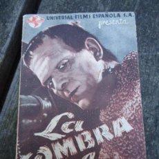 Cine: LA SOMBRA DE FRANKENSTEIN 1944 BORIS KARLOFF BELA LUGOSI CON FECHA 2 DE ENERO DE 1944 UNIVERSAL DOBL. Lote 156539794