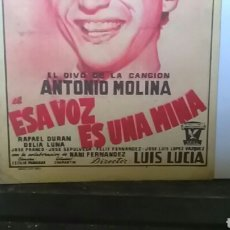 Cine: PROGRAMA DE CINE ANTONIO MOLINA. Lote 156559978