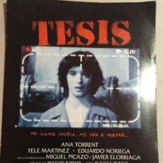 Cine: PRES BOOK TESIS-ALEJANDRO AMENABAR. Lote 156563614