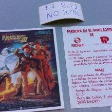 Foglietti di film di film antichi di cinema: LOTE DOS PROGRAMAS DE CINE REGRESO AL FUTURO 3 III PUBLICIDAD RENFE TRENES. Lote 156613732