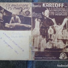 Cine: LA MASCARA DE FU MANCHU 1934 BORIS KARLOFF CON MYRNA LOY LEWIS STONE DOBLE PRODUC, METRO-GOLDWYN-M. Lote 156624146