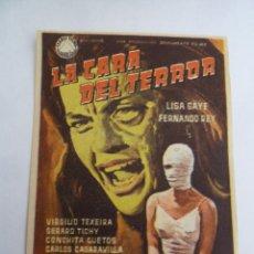 Cine: LA CARA DEL TERROR FOLLETO DE MANO ORIGINAL ESTRENO . Lote 156625210