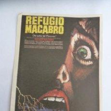 Cine: REFUGIO MACABRO MAC FOLLETO DE MANO ORIGINAL ESTRENO. Lote 156625674