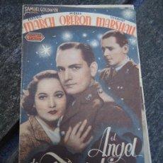 Cine: EL ANGEL DE LAS TINIEBLAS 1940 FREDRIC MARCH, MERLE OBERON, HERBERT MARSHALL DOBLE CON PUBLICIDAD DE. Lote 156627478