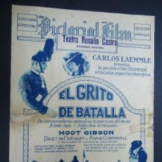 Cine: EL GRITO DE BATALLA 1927 HOOT GBSÓN, DUSTIN FARNUM, ANNE CORNWALL RARÍSIMO EDICIÓN ESPECIAL SECCIÓN . Lote 156645302