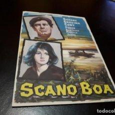 Cine: PROGRAMA DE MANO ORIGINAL - SACANO BOA - SIN CINE . Lote 156667554