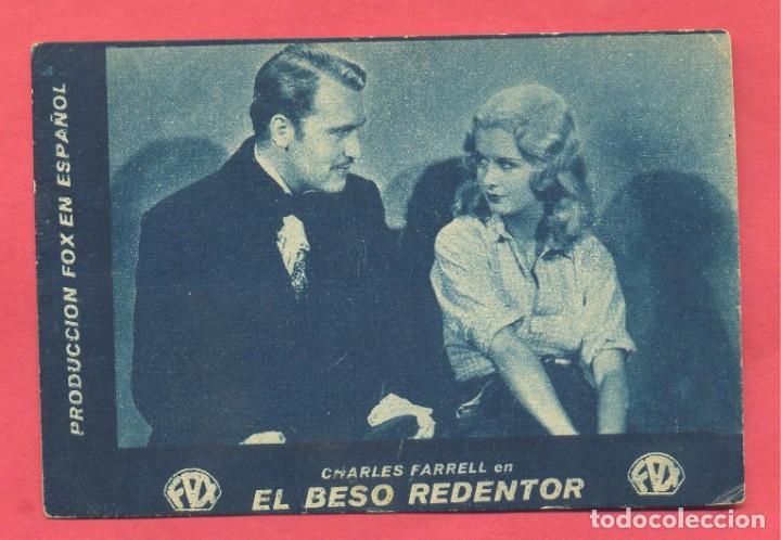 EL BESO REDENTOR, TARJETA FOX, CINEMA ESPAÑA, VER FOTOS (Cine - Folletos de Mano - Comedia)