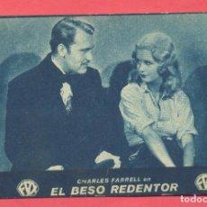 Cine: EL BESO REDENTOR, TARJETA FOX, CINEMA ESPAÑA, VER FOTOS. Lote 156671298