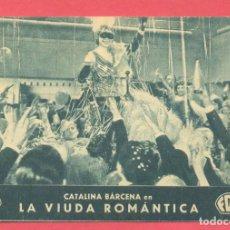 Cine: LA VIUDA ROMANTICA TARJETA FOX, METROPOL CINEMA -VILASSAR DE DALT-1934, VER FOTOS. Lote 156714574