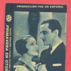 Cine: PRIMAVERA EN OTOÑO,, TARJETA FOX,NUEVO TEATRO, VER FOTOS. Lote 156720286