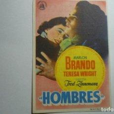 Cine: PROGRAMA HOMBRES.-MARLON BRANDO PUBLICIDAD. Lote 156830346