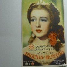 Cine: PROGRAMA EUGENIA DE MONTIJO - AMPARITO RIVELLES -PUBLICIDAD BB. Lote 156831678