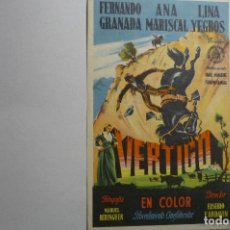 Cine: PROGRAMA VERTIGO - ANA MARISCAL PUBLICIDAD BB. Lote 156831786