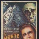 Cine: P-7873- EL MONTE DE LOS MUERTOS (DAS BLAUE LICHT) (TEATRO BERGIDUM - PONFERRADA) MARTI WIEMMAN. Lote 156868606