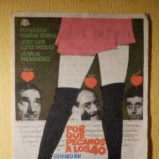 Cine: FOLLETO DE MANO - PORQUÉ PECAMOS A LOS 40 - CINE SAN JUAN BOSCO - SEVILLA - . Lote 156871082