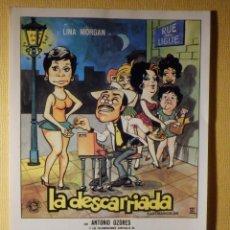 Cine: FOLLETO DE MANO PELÍCULA - FILM - LA DESCARRIADA. Lote 156904958