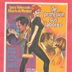 Cine: DE PROFESION SUS LABORES, SIN PUBLICIDAD, VER FOTOS. Lote 156915578