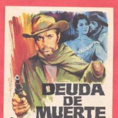 Cine: DEUDA DE MUERTE, SIN PUBLICIDAD, VER FOTOS. Lote 156916002