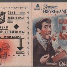 Flyers Publicitaires de films Anciens: EL HOMBRE DE LOS MUÑECOS - PROGRAMA DOBLE CIFESA CON PUBLICIDAD RF-2203. Lote 156940118