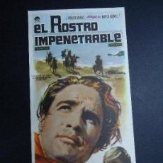 Cine: EL ROSTRO IMPENETRABLE 1961 MARLON BRANDO, KARL MALDEN PROGRAMA SENCILLO CON PUBLICIDAD 1961 . Lote 157009958