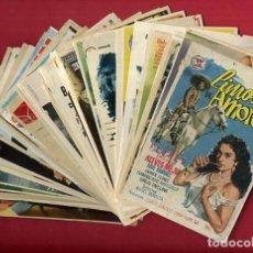 Cine: LOTE DE 120 PROGRAMAS DE CINE ANTIGUOS , SIN CINE EN EL REVERSO , VER FOTOS , ORIGINALES , L9. Lote 157019842
