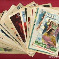 Cine: LOTE DE 120 PROGRAMAS DE CINE ANTIGUOS , SIN CINE EN EL REVERSO , VER FOTOS , ORIGINALES , L10. Lote 157020378