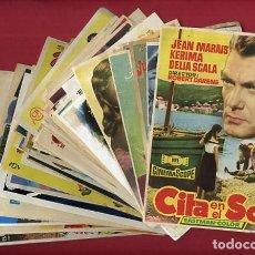 Cine: LOTE DE 120 PROGRAMAS DE CINE ANTIGUOS , SIN CINE EN EL REVERSO , VER FOTOS , ORIGINALES , L11. Lote 157020550