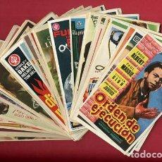 Cine: LOTE DE 120 PROGRAMAS DE CINE ANTIGUOS , SIN CINE EN EL REVERSO , VER FOTOS , ORIGINALES , L39. Lote 157033774