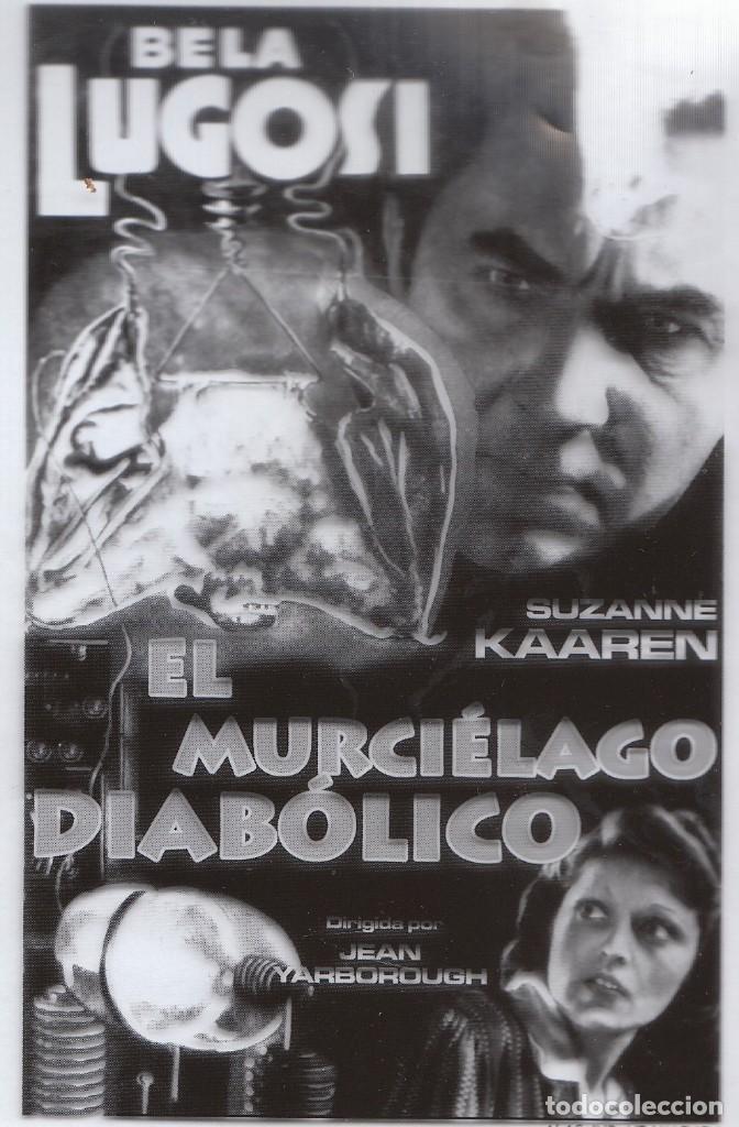 CINE 2 FANTÁSTICOS FOTOLITOS EXTRAÑA PELÍCULA EL MURCIÉLAGO DIABÓLICO, BELA LUGOSI SERIE B 1940. (Cine - Folletos de Mano - Terror)