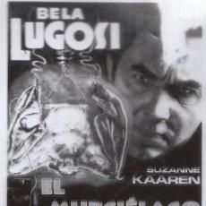Cine: CINE 2 FANTÁSTICOS FOTOLITOS EXTRAÑA PELÍCULA EL MURCIÉLAGO DIABÓLICO, BELA LUGOSI SERIE B 1940. . Lote 157384758