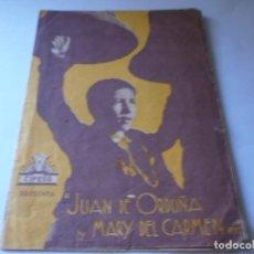 Cine: PROGRAMA DOBLE - EL CURA DE ALDEA - JUAN DE ORDUÑA, MARY DEL CARMEN - CIFESA - CENTRAL CINEMA - 1939. Lote 157395346