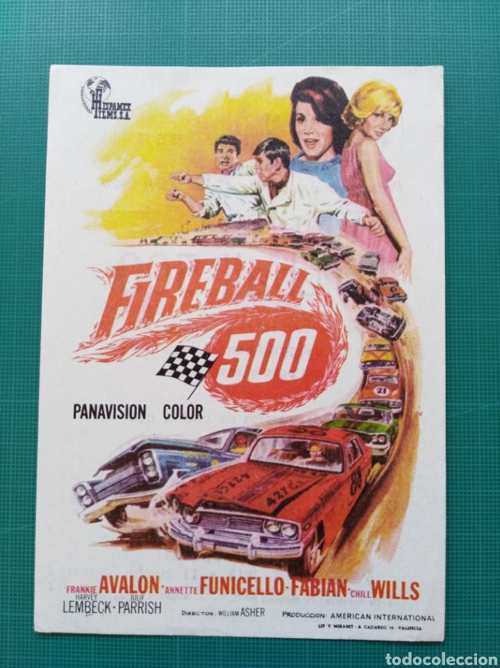 PROGRAMA DE MANO CINE ORIGINAL - FIREBALL 500 (Cine - Folletos de Mano - Deportes)
