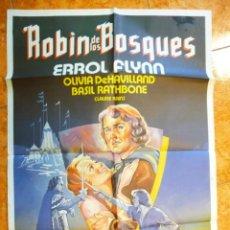 Cine: CARTEL DE CINE ROBIN DE LOS BOSQUES ORIGINAL AÑOS 70 ERROL FLYNN OLIVIA DE HAVILLAND. Lote 157712126