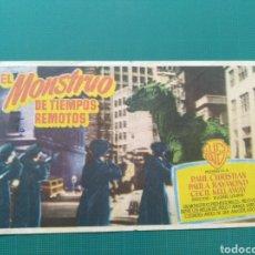 Cine: PROGRAMA DE MANO CINE ORIGINAL - EL MONSTRUO DE TIEMPOS REMOTOS. Lote 157716016