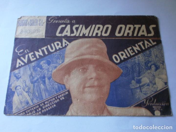PROGRAMA DOBLE - AVENTURA ORIENTAL - CASIMIRO ORTAS, ANSELMO FERNÁNDEZ - IDEAL CINEMA (VALENCIA) - 1 (Cine - Folletos de Mano - Comedia)