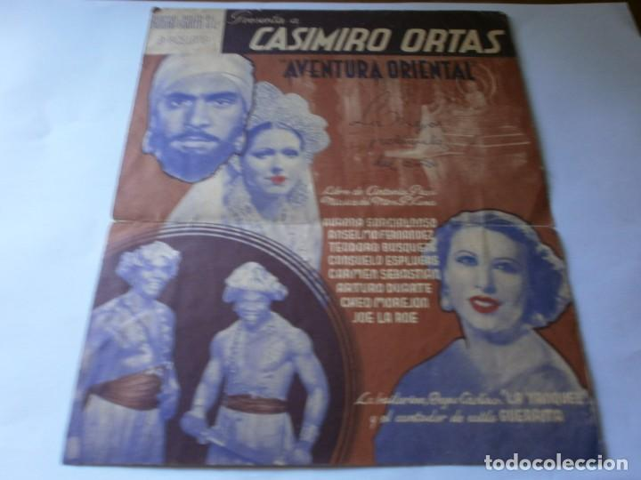 Cine: PROGRAMA DOBLE - AVENTURA ORIENTAL - CASIMIRO ORTAS, ANSELMO FERNÁNDEZ - IDEAL CINEMA (Valencia) - 1 - Foto 2 - 157799406