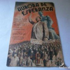 Cine: PROGRAMA DOBLE - AURORA DE ESPERANZA - FÉLIX DE POMÉS , ENRIQUETA SOLER - SALÓN NOVEDADES (ALICANTE). Lote 157801834