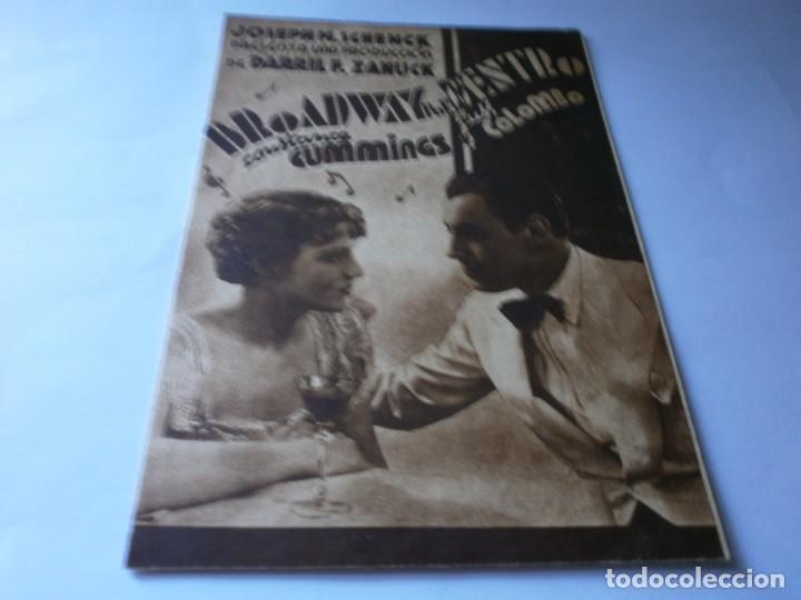 PROGRAMA DOBLE - BROADWAY POR DENTRO - CONSTANCE CUMMINGS, RUSS COLOMBO - SALÓN NACIONAL - 1939 (Cine - Folletos de Mano - Musicales)