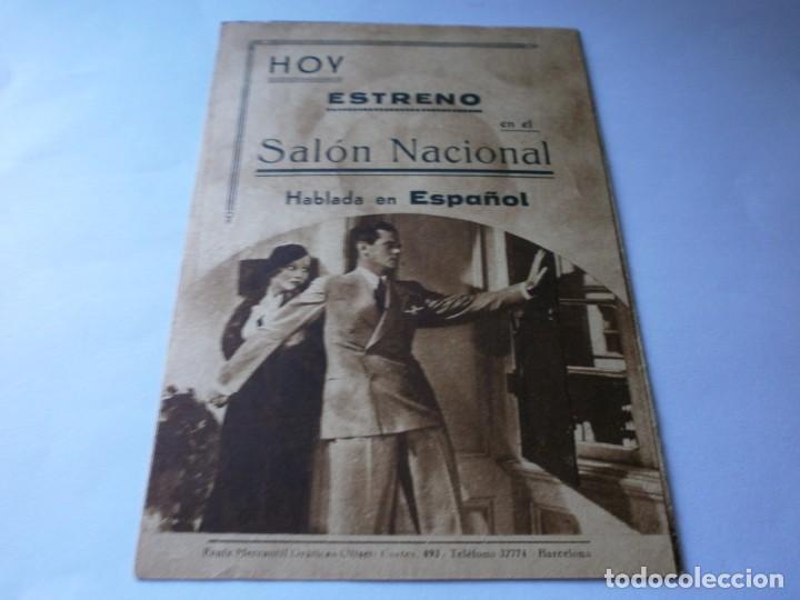 Cine: PROGRAMA DOBLE - BROADWAY POR DENTRO - CONSTANCE CUMMINGS, RUSS COLOMBO - SALÓN NACIONAL - 1939 - Foto 3 - 157805802