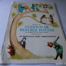Cine: PROGRAMA DE CINE - CUENTOS DE BEATRIZ POTTER - BAILARINES DEL ROYAL BALLET - 1971.. Lote 157813754