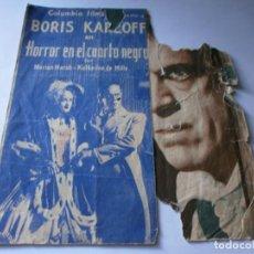 Cine: PROGRAMA DOBLE - HORROR EN EL CUARTO NEGRO - BORIS KARLOFF - COLUMBIA - IDEAL (ALICANTE) - 1936.. Lote 157839410