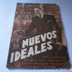 Foglietti di film di film antichi di cinema: PROGRAMA DOBLE - NUEVOS IDEALES - FÉLIX DE POMÉS, ROSITA DE CABO - 1936 - SIN PUBLICIDAD.. Lote 157840810