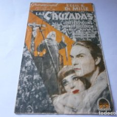 Cine: PROGRAMA DOBLE LAS CRUZADAS - LORETTA YOUNG, HENRY WILCOXON - PARAMOUNT - CENTRAL CINEMA (BARCELONA). Lote 157888446