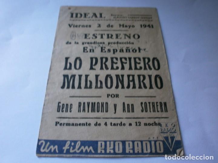 Cine: PROGRAMA DOBLE - LO PREFIERO MILLONARIO - GENE RAYMOND, ANN SOTHERN - RKO RADIO - IDEAL (Alicante) - Foto 3 - 157888970