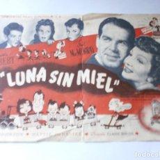 Cine: PROGRAMA DE CINE - LUNA SIN MIEL - CLAUDETTE COLBERT, FRED MAC MURRAY - UNIVERSAL - PALACIO DEL CINE. Lote 157889930